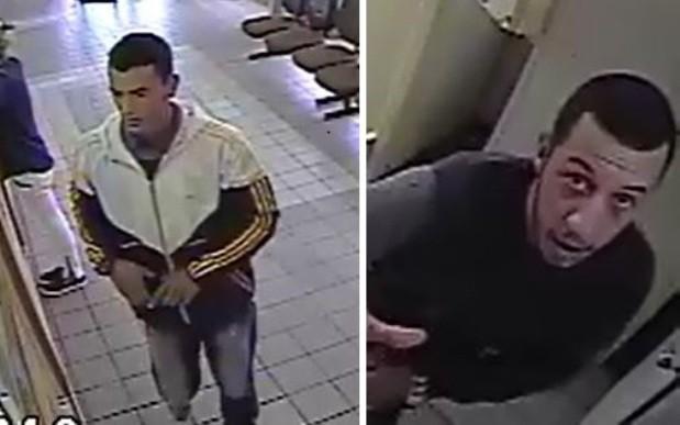 Na agência do Moinhos de Vento, dois homens participaram do assalto (Foto: Câmeras de segurança)