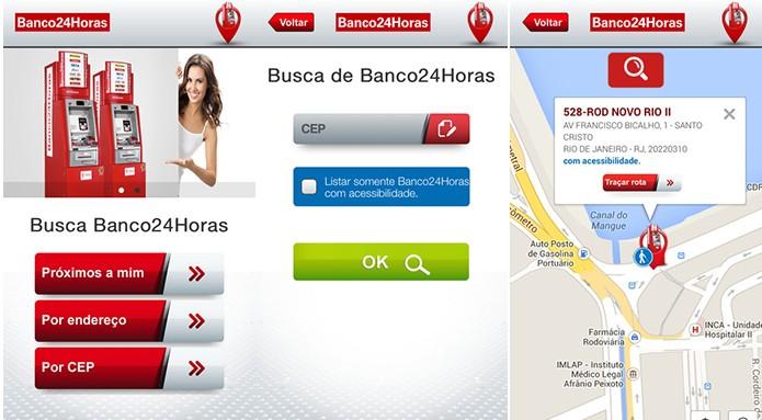 Banco24Horas ajuda usuários do Windows Phone a achar caixa eletrônico mais próximo (Foto: Divulgação/Windows Phone Store)