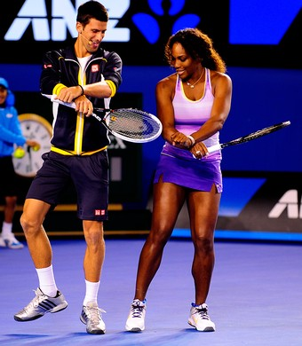 Djokovic Serena Williamns Aberto da Austrália (Foto: Ben Solomon/Divulgação)