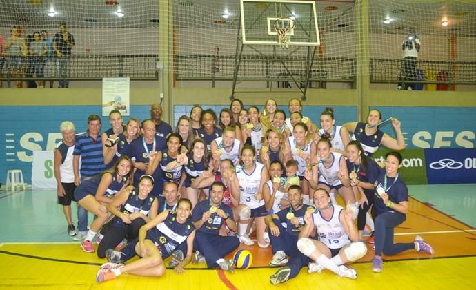 São José Vôlei Feminino campeão Superliga B (Foto: Tião Martins/ PMSJC)