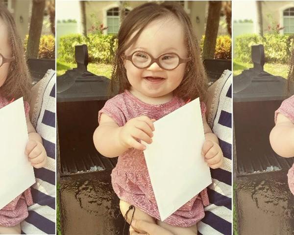 """""""Minha filha é perfeita"""" (Foto: Reprodução Facebook)"""