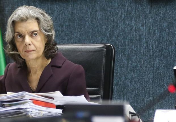 A ministra do STF Cármen Lúcia preside sessão do Conselho Nacional de Justiça (CNJ) (Foto: Antônio Cruz/Agência Brasil)