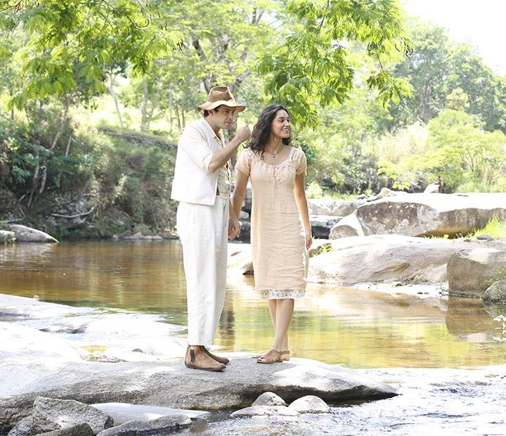 Romance: Candinho será apaixonado por Filomena (Foto: Ellen Soares/Gshow)