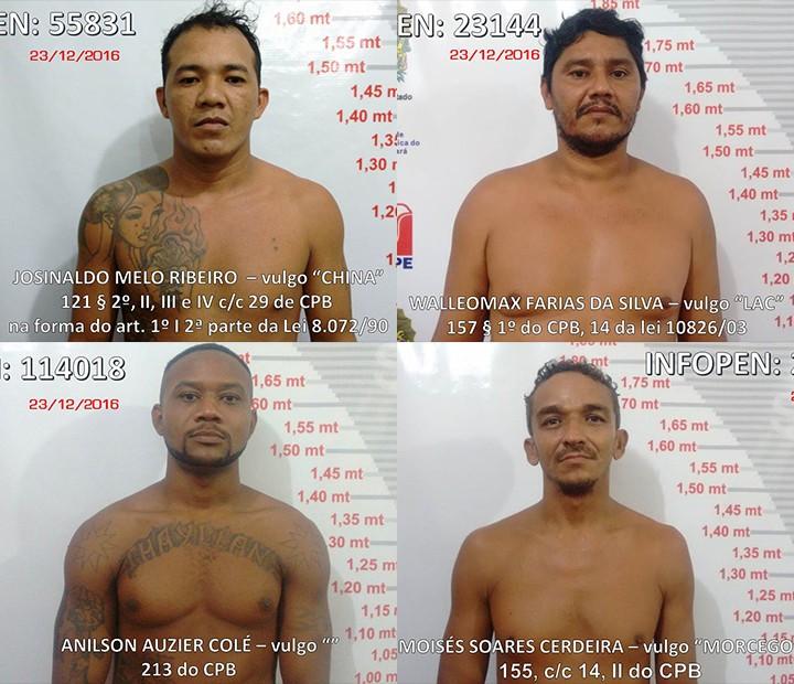 Presos que não retornaram são considerados foragidos da justiça (Foto: Ascom Susipe/Divulgação)