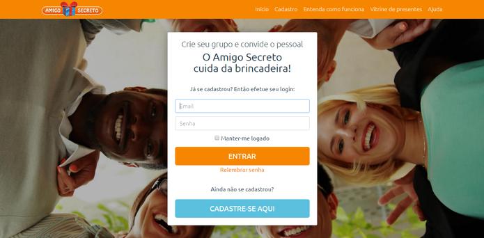 Amigo Secreto: ferramenta online permite organizar sorteio do evento (Reprodução/Caio Bersot)