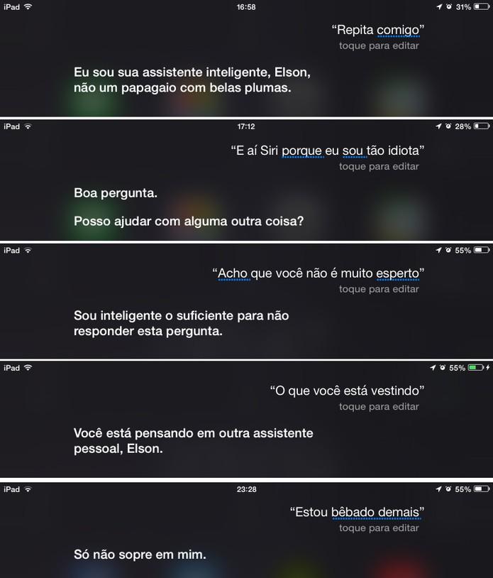Siri também sabe dar respostas nada amigáveis para o usuário (Foto: Reprodução/Elson de Souza)