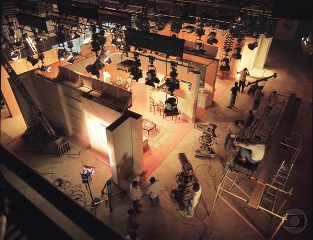 Um estúdio de novela (Foto: Acervo Globo)