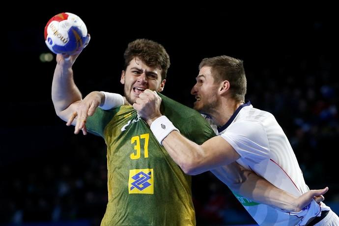 Brasil x Noruega, Mundial de Handebol da França, Haniel Lângaro (Foto: Reuters)