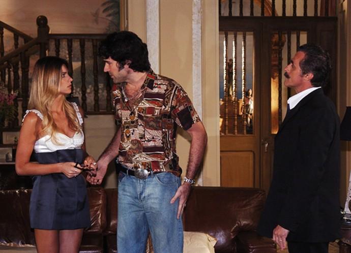 Fê Lima vivia uma modelo internacional na novela (Foto: TV Globo)