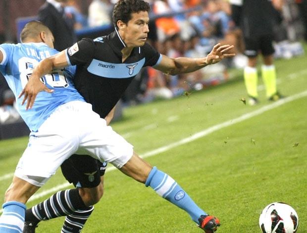 Hernane, Napoli e Lazio (Foto: Agência AFP)