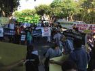 Em protesto, servidores da Justiça cobram declaração de Lewandowski