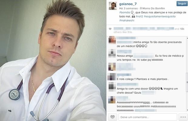 Postagens de Luís Eduardo são curtidas por milhares de 'fãs' (Foto: Reprodução/Instagram)