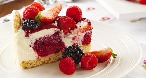 Receita de torta holandesa light de frutas vermelhas