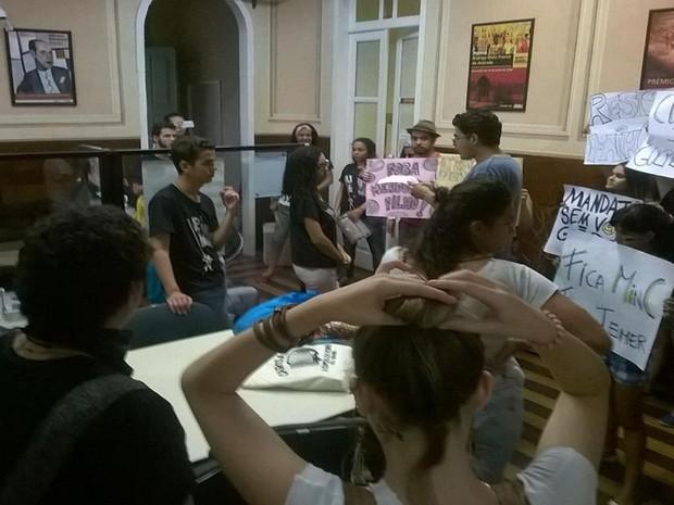 Movimento foi organizado pela Levante Popular da Juventude em Sergipe (Foto: Divulgação/ Frente Sergipana Brasil Popular)