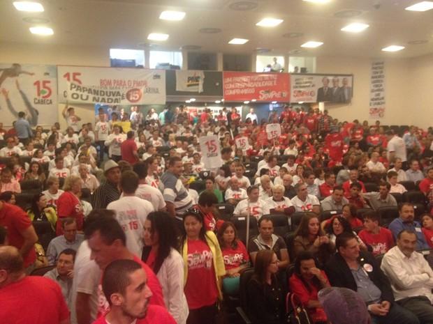 Pré-convenção ocorreu neste sábado (26) em Florianópolis (Foto: João Salgado/RBS TV)