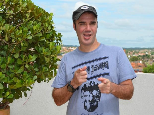 Humorista Diogo Portugal em Cacoal, RO (Foto: Magda Oliveira/G1)
