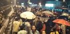 SC: BR-101 foi fechada em duas cidades (Luiz Carlos de Souza/RBS TV)