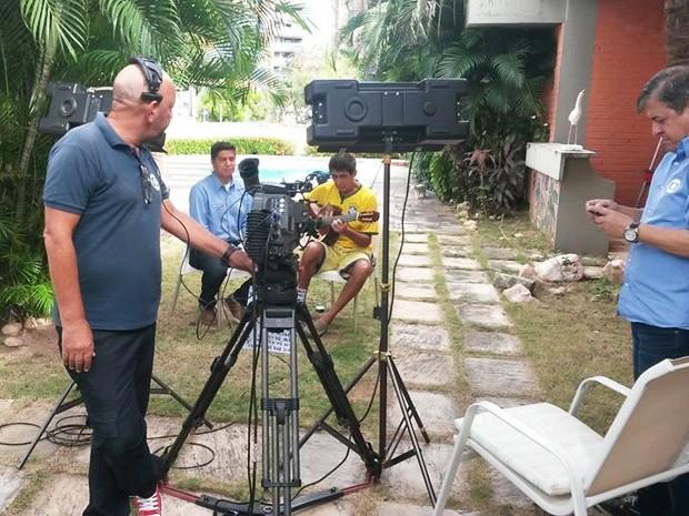 Cinegrafista Miguel Nery durante entrevista no SporTV (Foto: Miguel Nery/TV Mirante)