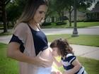 'Grávida me sinto mais bonita e  poderosa', diz Fernanda Pontes