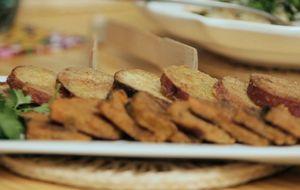 Legumes empanados com farinha integral