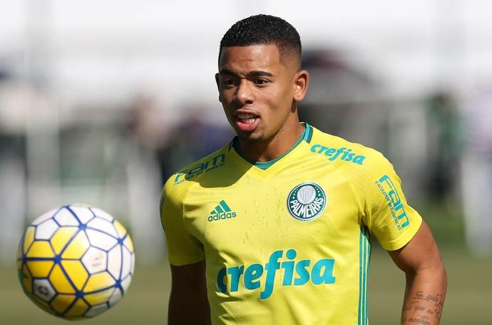 Gabriel Jesus Palmeiras treino (Foto: Cesar Greco/Ag Palmeiras/Divulgação)