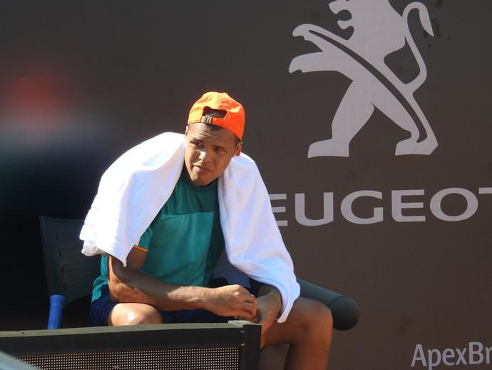 Jo-Wilfried Tsonga treina no Aberto do Rio (Foto: Thiago Quintella)