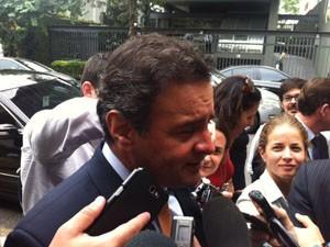 Aécio disse que até junho deve sair nome de vice (Foto: Roney Domingos/G1)