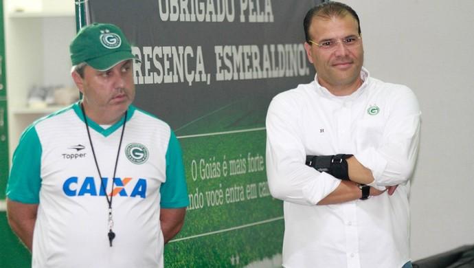 Gilson Kleina e Harlei - Goiás (Foto: Rosiron Rodrigues / Goiás E.C.)