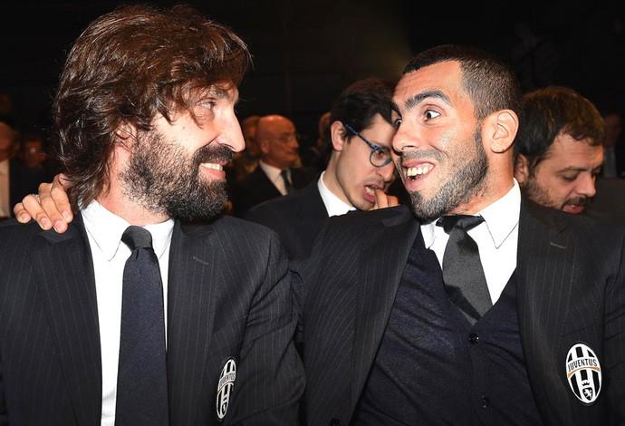 Pirlo e Tevez, Gran Galà del calcio (Foto: Agência EFE)