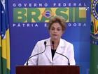 Dilma Rousseff ataca, sem citar nomes, Temer e Eduardo Cunha