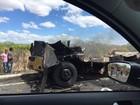 Grupo explode cofre e ateia fogo em carro-forte entre Floresta e Petrolândia
