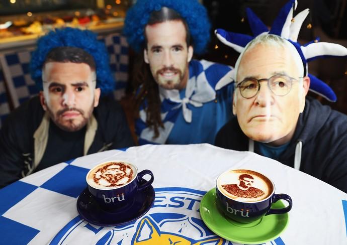 Foxiccino e Vardyccino em campanha deixa Leicester toda de azul  (Foto: Getty Images)