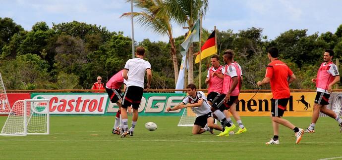 Jogadores alemanha treino (Foto: Victor Canedo)