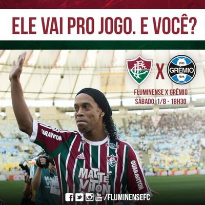 Ronaldinho Gaúcho, Fluminense x Grêmio (Foto: Reprodução / Facebook)