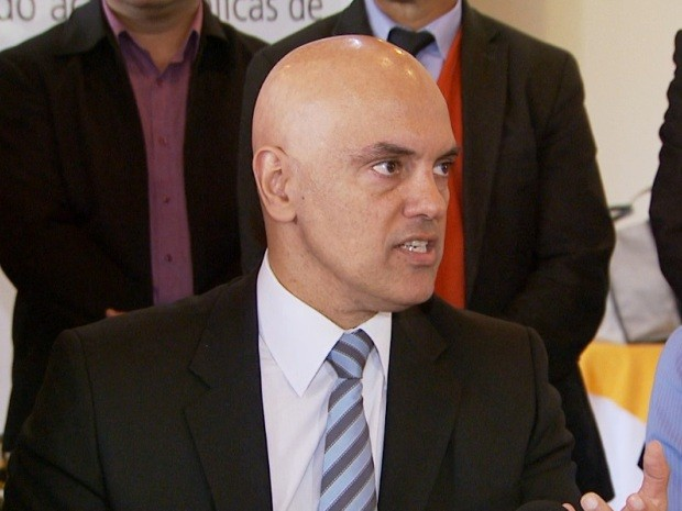 O secretário de Segurança Pública em São Paulo, Alexandre de Moraes (Foto: Reprodução / EPTV)
