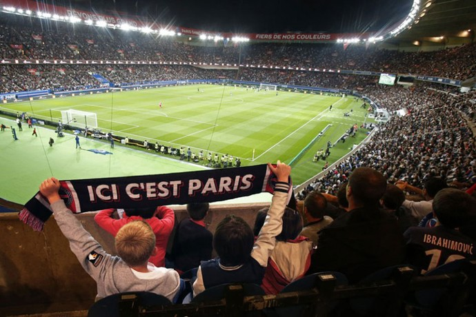 Estádio Parc des Princes, Paris Saint-Germain (Foto: Divulgação / Site Oficial)