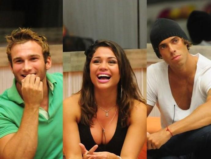 Wesley, Maria e Mau Mau viveram triângulo amoroso no 'BBB11' (Foto: TV Globo)