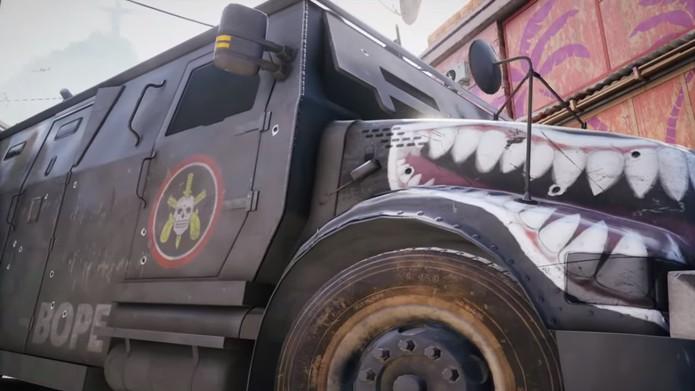 Caveirão do BOPE é mostrado no vídeo de Operation Skull Rain de Rainbow Six Siege (Foto: Reprodução/YouTube)
