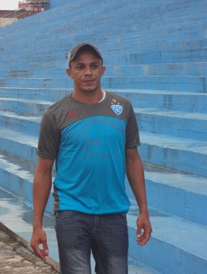 Aleílson, atacante do Paysandu (Foto: Thiago Lopes / Globoesporte.com)