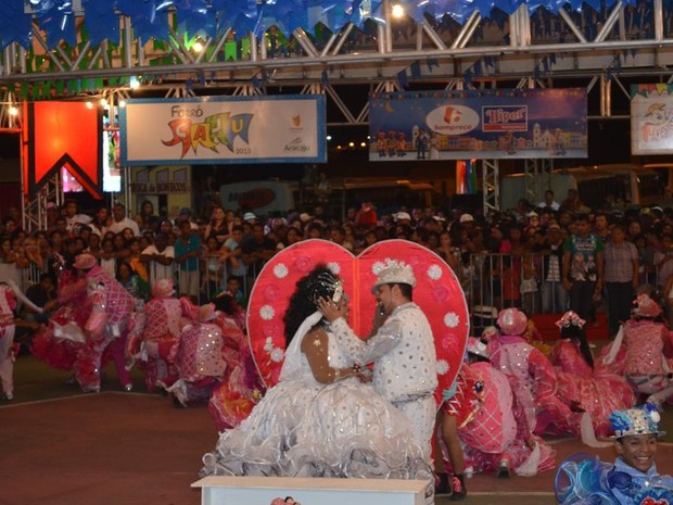 Casamento matuto foi o ponto alto da apresentação da Asa Branca (Foto: Marina Fontenele/G1)