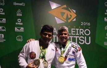 Duda Castro é bicampeão Brasileiro de Jiu-jítsu e vê filho conquistar bronze