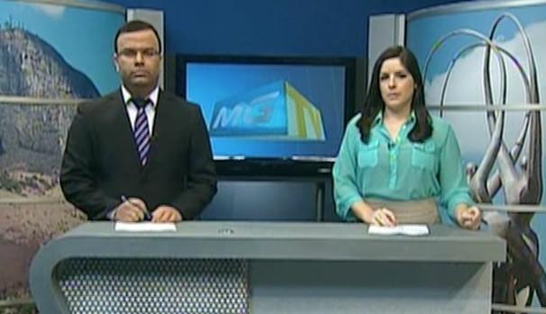 Wilson Ribeiro e Priscila Cambraia - MG Inter TV 1ª Edição (Foto: Reprodução Inter TV Vales)