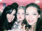 Marina Elali posta foto com Tânia Mara e Maysa: '3 anos desta princesa'