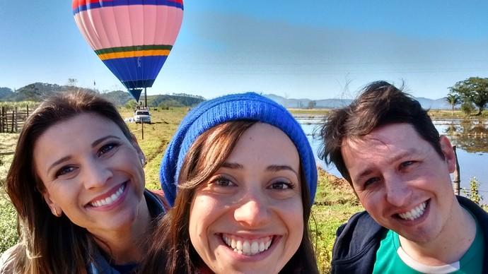 Camille, Lívia e Gregóri (Foto: Lívia Andrade/RBS TV)