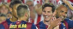 Barcelona vence com golaço de Messi e fatura a Copa do Rei (Lluis Gene/AFP)