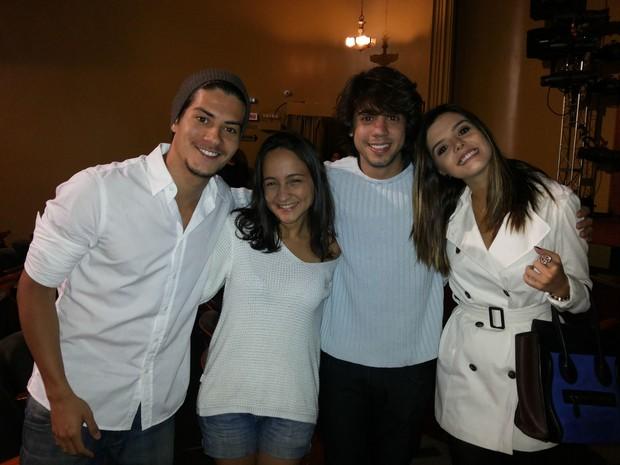 Arthur Aguiar, Barbara Dias, Guga Sabatiê e Giovanna Lancellotti (Foto: Divulgação)