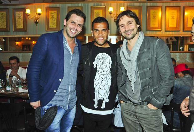 Murilo Rosa, Daniel Alves e Henri Castelli (Foto: João Passos / Divulgação)