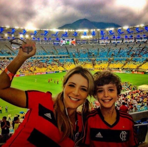 Christine Fernandes e o filho Pedro (Foto: Reprodução / Instagram)