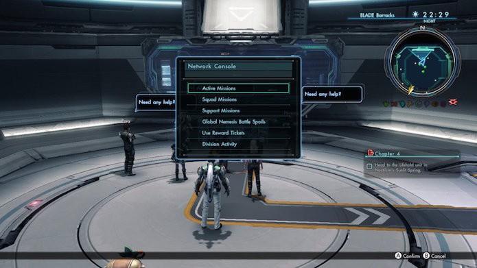 Xenoblade Chronicles X: acesse o console central da estação (Foto: Reprodução/Victor Teixeira)