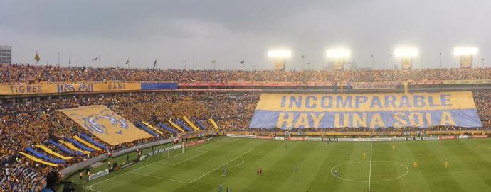 Estádio - Tigres x Emelec (Foto: Reprodução / Twitter)